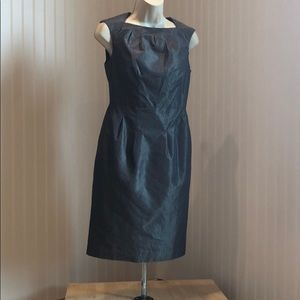 Banana Republic Pinstripe Metallic Sheen Dress